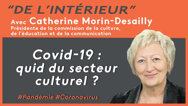 Coronavirus : quid du secteur culturel ? De L'intérieur – Catherine Morin-Desailly